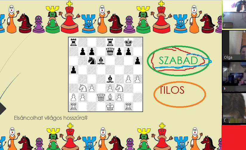 gyerekeknek sánc interaktív online sakk
